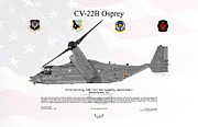 Edwards Digital Art - Bell Boeing CV-22B Osprey by Arthur Eggers