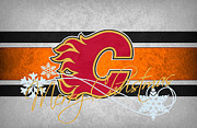 Hockey Art - Calgary Flames by Joe Hamilton