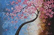 Cherry Blossoms Painting Prints - Cherry Blossoms Print by Tomoko Koyama
