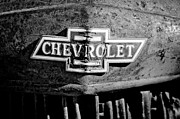 Old Photos Framed Prints - Chevrolet Grille Emblem Framed Print by Jill Reger