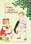 Christmas Greeting Art - Christmas card by English School
