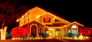 Manger Pyrography Posters - Christmas Lights C.C. Tx Poster by James E Hoehne