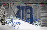 Christmas Greeting Photo Framed Prints - Detroit Tigers Framed Print by Joe Hamilton