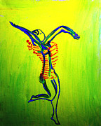 Africa Dinka Paintings - Dinka Dance - South Sudan by Gloria Ssali