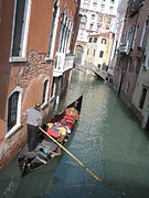 Gondolier Photo Framed Prints - Gondola. Venice Framed Print by Bernard Jaubert