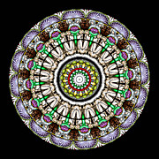 Circle Prints - Kaleidoscope Stained Glass Window Series Print by Amy Cicconi