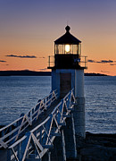 Maine Lighthouses Photo Posters - Marshall Point Lighthouse Poster by John Greim