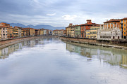 Arno River Framed Prints - Pisa Framed Print by Joana Kruse