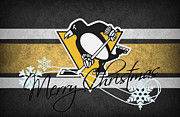 Puck Prints - Pittsburgh Penguins Print by Joe Hamilton
