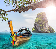 Sunday Picnic Prints - Railay beach Print by Anek Suwannaphoom