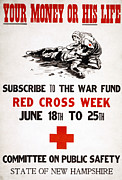 Fundraising Framed Prints - RED CROSS POSTER, c1917 Framed Print by Granger