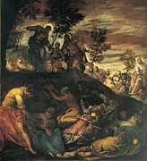 Bible Story Prints - Robusti Jacopo Known As Tintoretto, The Print by Everett