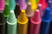 Variety Of Colors Posters - Rows of multicolored crayons  Poster by Jim Corwin