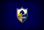 Football Prints - San Diego Chargers Print by Joe Hamilton
