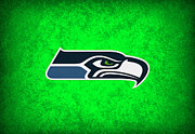 Seattle Greeting Cards Posters - Seattle Seahawks Poster by Joe Hamilton