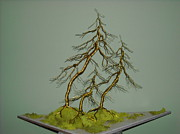 Wire Tree Sculpture Prints - #10 We 3  Print by Ricks  Tree Art