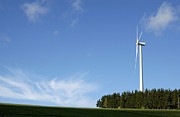 Ally Photo Posters - Wind turbine Poster by Bernard Jaubert
