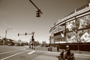 Classic Baseball Players Prints - Wrigley Field - Chicago Cubs Print by Frank Romeo
