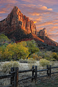 Mesas Photo Prints - Zion National Park Print by Utah Images