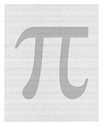 3.14 Posters - 100 Thousand Pieces of Pi Poster by Ron Hedges