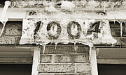 Icy Digital Art Prints - 1004 Main Street Small Town USA - BW  Print by Andee Photography