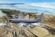 Iraq Prints Painting Framed Prints - 100th ARW Flagship Framed Print by Kenneth Karl