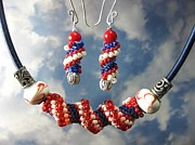 July Jewelry - 1012 Hooray for the Red White and Blue by Dianne Brooks