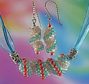 Salmon Jewelry - 1026 Coral and Water by Dianne Brooks