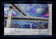Graphical Drawings Framed Prints - 105/110 Cross Freeway Overpass Framed Print by RJ Aguilar