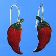 Hot Jewelry - 1066 Hot Chili Peppers by Dianne Brooks