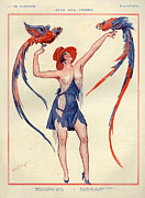 Parisienne Prints - 1920s France La Vie Parisienne Print by The Advertising Archives