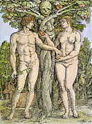 Adam And Eve Print by Granger