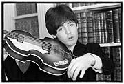 Beatles Photo Posters - Beatles HELP Paul McCartney Poster by Emilio Lari