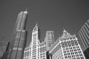 Chicago Photography Posters - Chicago Skyline Poster by Frank Romeo
