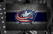 Blue Barn Doors Photos - Columbus Blue Jackets by Joe Hamilton