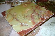 Pencil Ceramics - Dark Green Onyx Tiles by Hanam Marble Industries