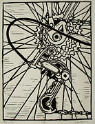Bicycle Drawings - Derailluer by William Cauthern