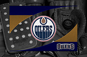 Hockey Art - Edmonton Oilers by Joe Hamilton