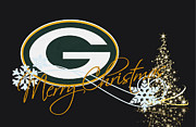 Christmas Greeting Cards Photo Framed Prints - Green Bay Packers Framed Print by Joe Hamilton