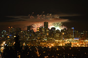 City Scape Pyrography Metal Prints - Honda Celebration of Light - Thailand  Metal Print by Peter Fletcher
