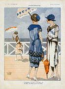 Featured Metal Prints - La Vie Parisienne  1919 1910s France Cc Metal Print by The Advertising Archives