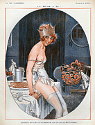 Nineteen Twenties Drawings - La Vie Parisienne  1926 1920s France Cc by The Advertising Archives
