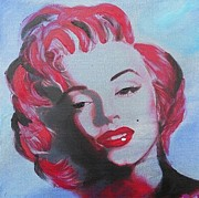 Lady Gaga Painting Prints - Marilyn Monroe  Print by Krista May