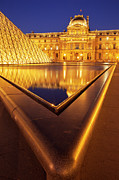 Glass Reflecting Prints - Musee du Louvre Print by Brian Jannsen