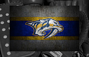 Predators Photo Framed Prints - Nashville Predators Framed Print by Joe Hamilton