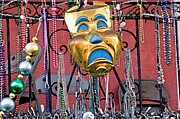 Mardi Gras Paintings - New Orleans Mardi Gras Mask Louisiana Artwork by Olde Time  Mercantile