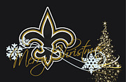 Sports Greeting Cards Framed Prints - New Orleans Saints Framed Print by Joe Hamilton