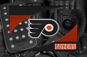 Puck Prints - Philadelphia Flyers Print by Joe Hamilton