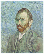 Self Portriat Framed Prints - Self-Portrait Framed Print by Vincent Van Gogh