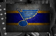 Blues Greeting Cards Framed Prints - St Louis Blues Framed Print by Joe Hamilton